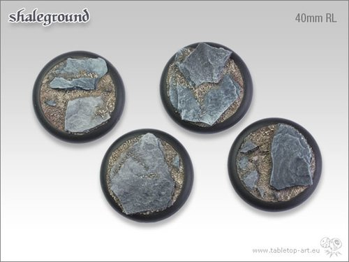 Shaleground Bases - 40mm RL (2)