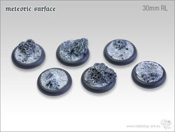 Meteoric Surface Bases - 30mm Round Lip (5)