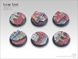 Scrap Steel Bases - 30mm Round Lip (5)