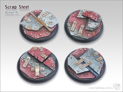 Scrap Steel Bases - 40mm RL (2)