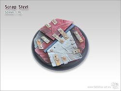 Scrap Steel Bases - 50mm Round Lip 1