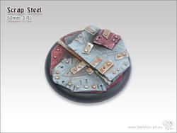 Scrap Steel Bases - 50mm Round Lip 3