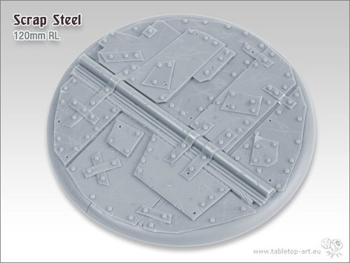 Scrap Steel Bases - 120mm RL 1