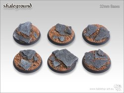 Shaleground Bases - 32mm (5)