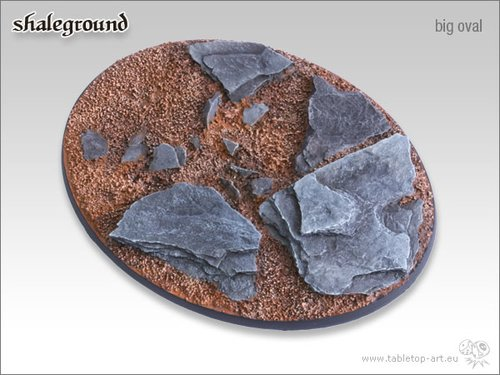 Shaleground Bases - 120mm Oval 1