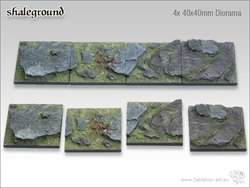 Shaleground Bases - 40x40mm Diorama (4)