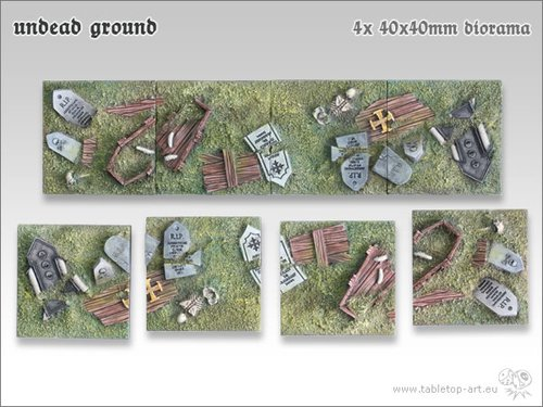 Undead Ground Bases - 40x40mm Diorama (4)