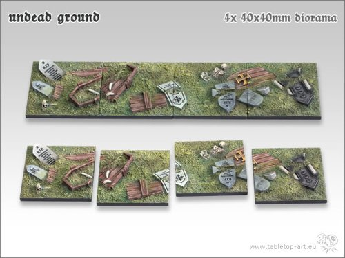 Undead Ground 40x40mm Diorama