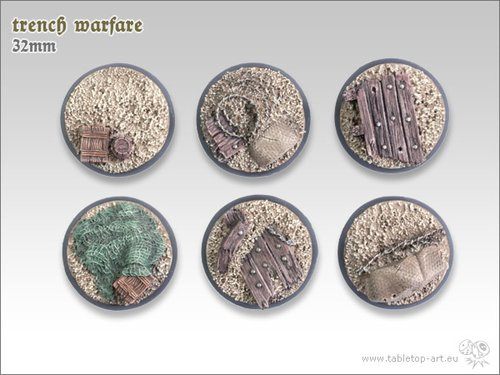 Trench warfare Bases - 32mm (5)