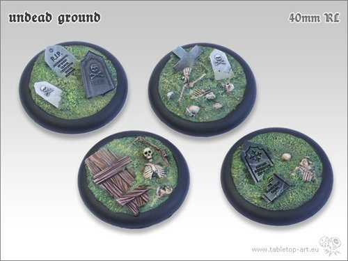 Undead Ground Bases - 40mm RL (2)