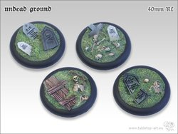 Undead Ground Bases - 40mm Round Lip (2)