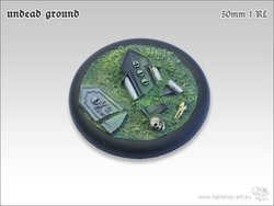 Undead Ground Bases - 50mm Round Lip 1