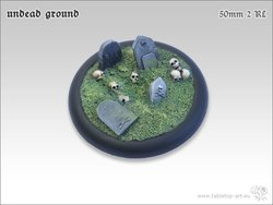Undead Ground Bases - 50mm Round Lip 2