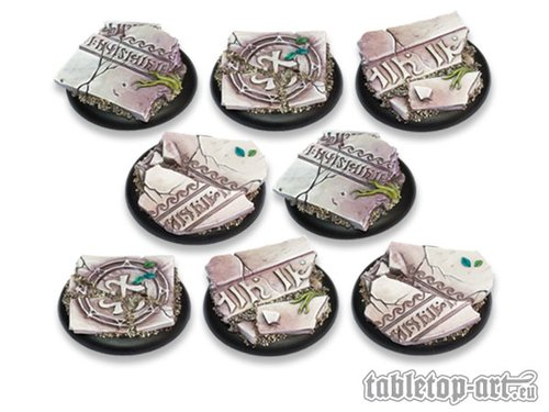 Ancestral Ruins Bases - 40mm Round Lip DEAL (8)
