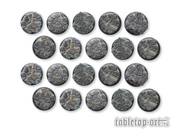 Cobblestone Bases - 30mm Round Lip DEAL (20)