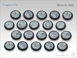 Flagstone Bases - 30mm Round Lip DEAL (20)