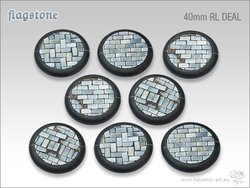 Flagstone Bases - 40mm Round Lip DEAL (8)