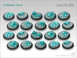 Crystal Field Bases - 30mm Round Lip DEAL (20)