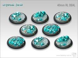 Crystal Field Bases - 40mm Round Lip DEAL (8)