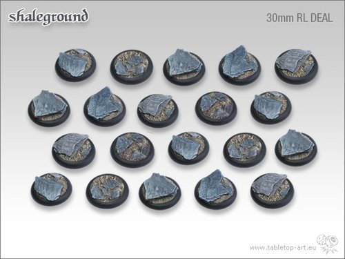 Shaleground Bases - 30mm Round Lip DEAL (20)