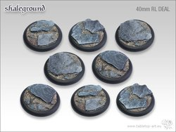 Shaleground Bases - 40mm Round Lip DEAL (8)