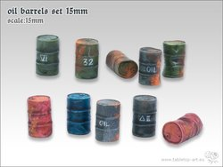 Oil barrels set 15mm