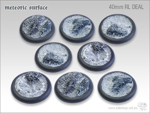 Meteoric Surface Bases - 40mm Round Lip DEAL (8)