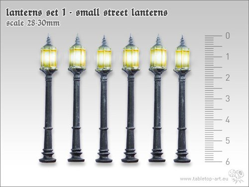 Lanterns Set 1 - Small Street Lanterns (6)
