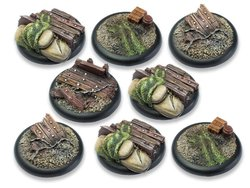 Trench Warfare Bases - 40mm Round Lip DEAL (8)
