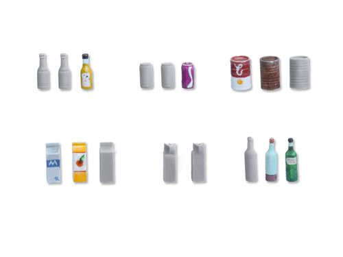 Beverage bottles and cans