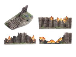 Wooden stockade destroyed - 28mm