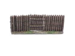 Wooden stockade gate - 28mm