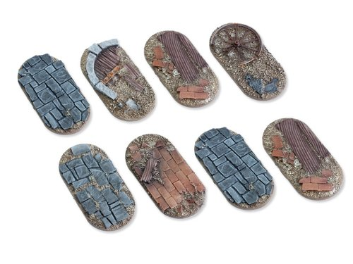 Viking raid bases - 25x50mm flat (8)